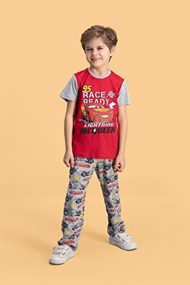 Cars Cars Lisanslı Kırmızı Erkek Çocuk Pijama Takımı Kırmızı